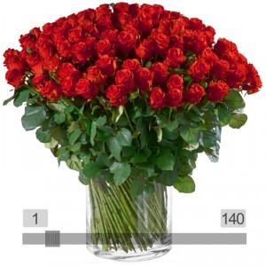 MyBouquet rote Rosen, langstielig (70-80cm)